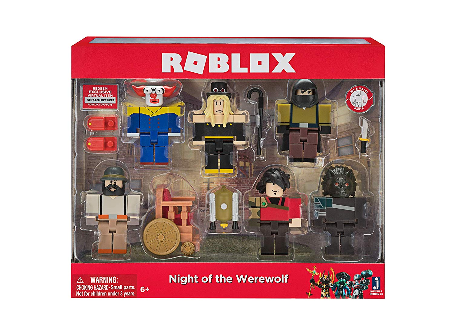 Roblox Night Of The Werewolf Six Figure Pack This Kid Loves